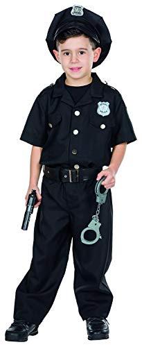 Rubie's Police Officer Cop Kostüm Größe 140 Kinder Karneval Polizist Fasching Polizei