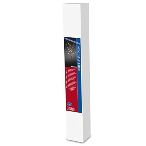 """Konstsmide 3369-600 LED Dekoration \""""Lichterzweig 1m\"""", braun / für Außen (IP44) /  24V Außentrafo / 32 warm weiße Dioden / braunes Kabel"""