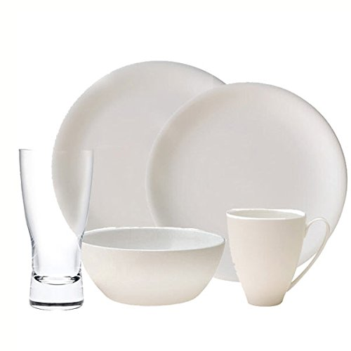 China by Denby Speiseteller China 20 PC Bundle Denby White Dish
