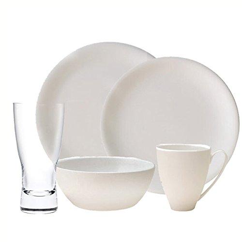 China by Denby Speiseteller China 20 PC Bundle Denby White Dinner Plate