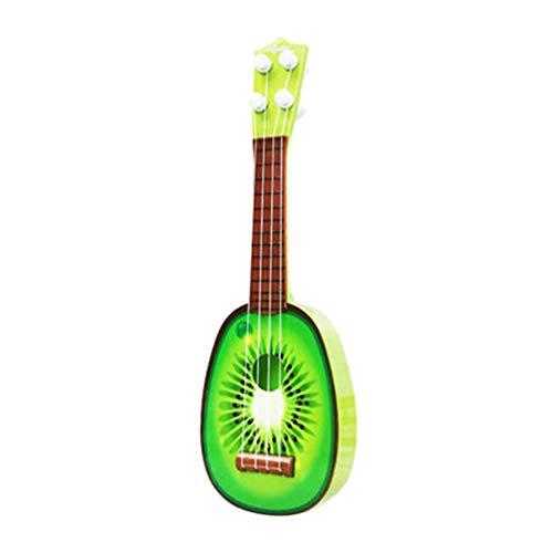 Vektenxi Kinder Kinder Wassermelone Kiwi Simulation Ukulele Gitarre Musikinstrument Spielzeug Geburtstagsgeschenk Bequem und praktisch