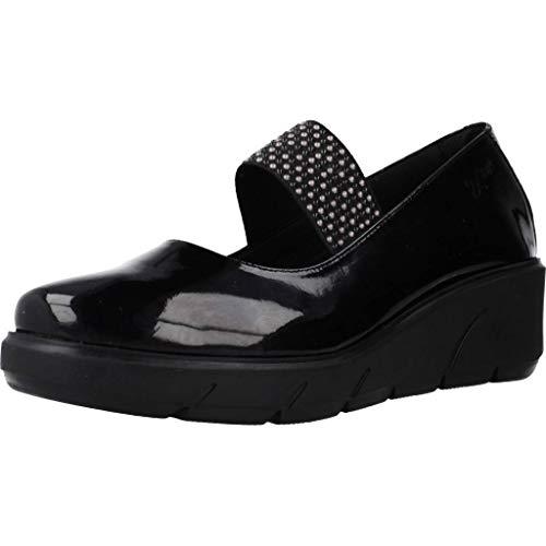 Zapatos de Cordones para Mujer, Color Negro (Negro), Marca 24 HORAS, Modelo Zapatos De Cordones para Mujer 24 HORAS 24251 Negro