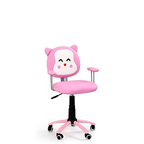Mirjan24 Drehstuhl Kitty, Kinderschreibtischstuhl Drehsessel für Kinder Kitty, Jugend- und Kinderstuhl Schreibtischstuhl (Rosa Kunstleder)