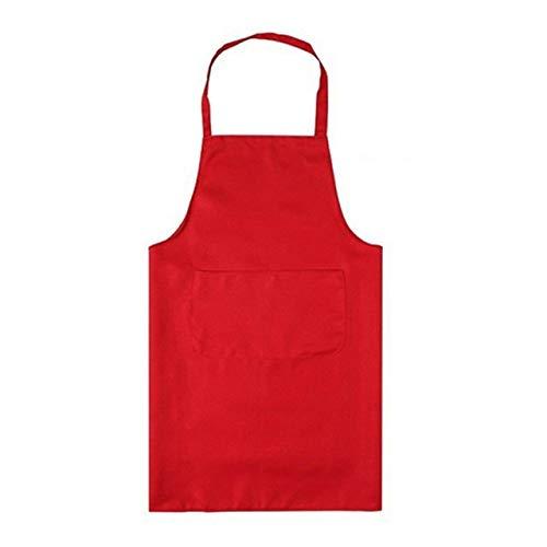 YBBDBQ Schürze Damen und Herren Polyester Hochwertige langlebige und Wiederverwendbare Küchenschürze Backen Kochen Restaurant Schürze Spanien Rot (Spanien-schürze)