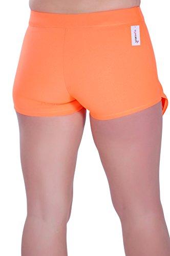Eyecatch - Aux Femmes Short Mini Dames Mode Jupe Pantalon Néon Orange