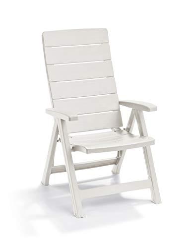 Keter -  Silla reclinable de jardín exterior Brasilia, Color blanco