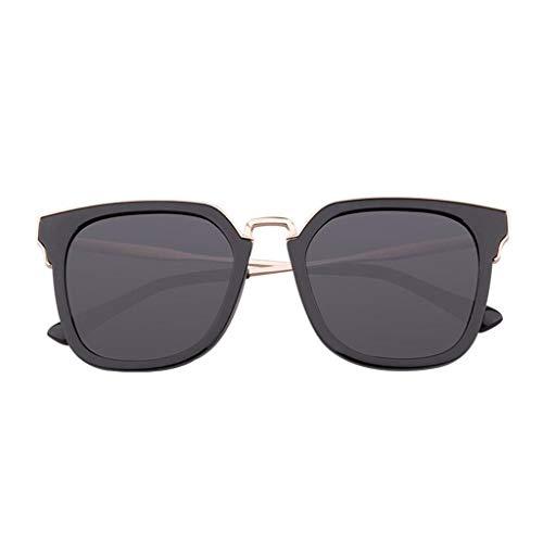 ZCmj Polarisator Mode Weibliche Flut mit Brille Sonnenbrille for Frauen Polarisierte UV-Schutz Fashion Classic Aviator Verspiegelte Sonnenbrille (Color : Black)