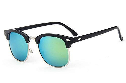 GY-HHHH Klassisches Retro-Outdoor-EssentialMetall Sonnenbrille Männlich/Weiblich Markendesigner Nieten Hochwertige Objektiv Sonnenbrille Women's Eyes_Blue 1