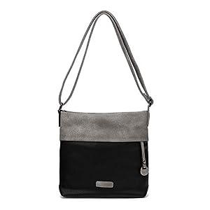 CASAdiNOVA Handtasche Damen – veganes leder- Umhängetasche, Schultertasche Beige – 25x26x5 cm