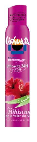 Ushuaïa - Déodorant Femme Atomiseur Parfum Fleur d'Hibiscus De La Vallée Du Nil Efficacité 24h - 200 ml