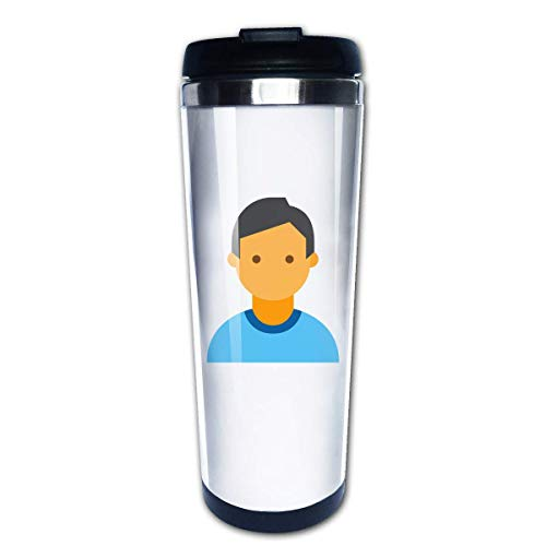 c4c2968aa3c QIUJUAN Blue Clothes Boy Stainless Steel Water Cup Travel Coffee Mug for  Outdoor Sports Camping Hiking
