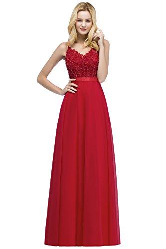 MisShow Damen Elegant Chiffon Hochzeitskleid Abendkleid für Hochzeit Prom Kleid Abiballkleid...