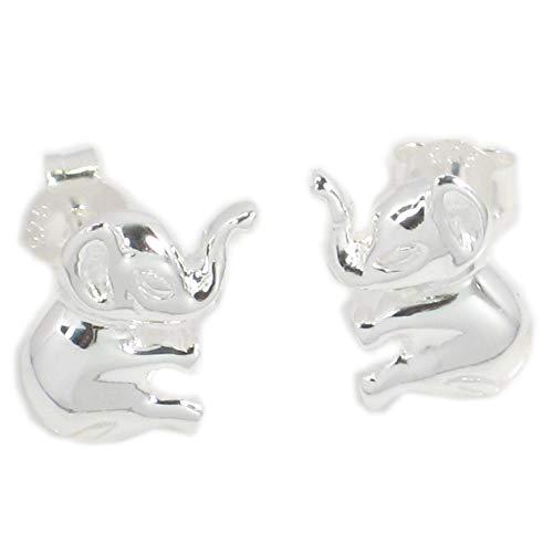 Diseño de elefante de plata de ley 925 Juego de pendientes de...