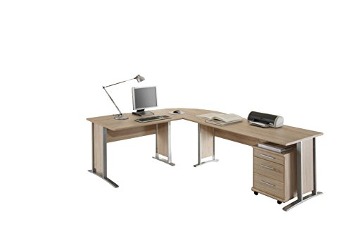 Office Line Winkelkombinantion - Holzdekor