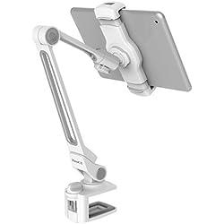 ZenCT Support Long Bras en Aluminium pour iPad, Support pivotant à 360° pour Tablette iPad Pro 11, iPad Pro 9.7, iPad Air, iPad 4 3 2, iPad Mini, Smartphones