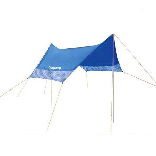 Kingcamp Sonnensegel, Aegean, Blau, 400 x 400 x 230 cm