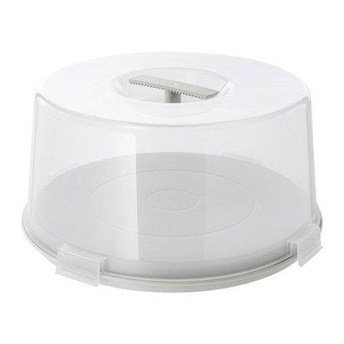 """IKEA Tortenträger """"KRISPIG"""" Wende-Tortenplatte mit Deckel und zwei Funktionen - geeignet für Mikrowelle, Spülmaschine, Gefrierfach - Höhe: 17 cm Durchmesser: 36 cm"""