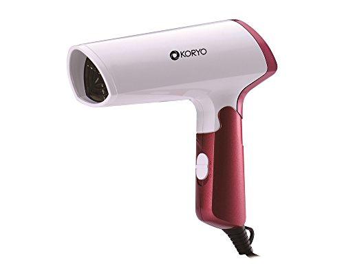Koryo KHD 1000 Watts Cold Air Shot Hair Dryer (White/Red)