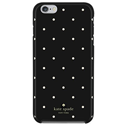 Kate Spade New York Larabee Dot Protective Rubber Case For iPhone 7 and iPhone 6 - Black/Cream Kate Spade Larabee