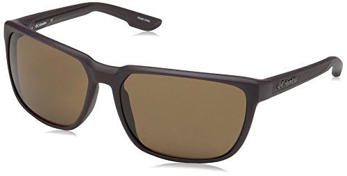 Columbia Men's Trail Warrior Rectangular Sunglasses, Matte New Cinder, 60 mm
