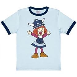 Camiseta para niño Vickie el Vikingo - Wickie der Wikinger - Camiseta con cuello redondo de LOGOSHIRT - Azul Claro - Diseño original con licencia, talla 92/98, 2-3 años