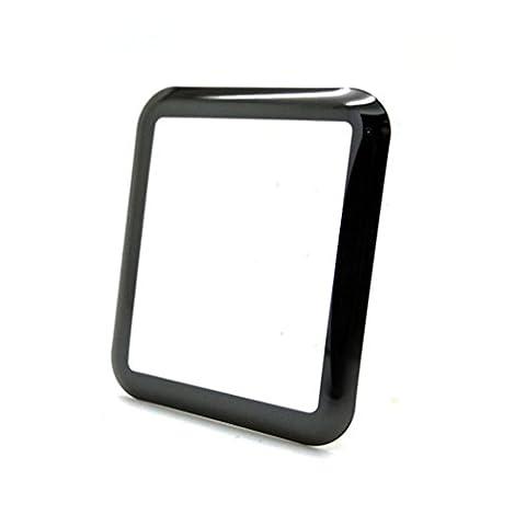 Protection d'écran en verre pour Apple Watch 38mm/42mm, 3D Curved Verre Trempé Film de protection d'écran Film de protection couverture pour Apple Watch