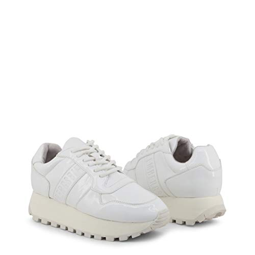 BIKKEMBERGS Scarpe Basse Sneakers Donna Bianco (Fend-ER_2087-PATENT)
