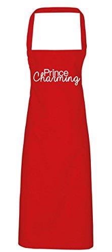 hippowarehouse Prince Charming Schürze Küche Kochen Malerei DIY Einheitsgröße Erwachsene, rot, (Diy Queen Kostüm Red)