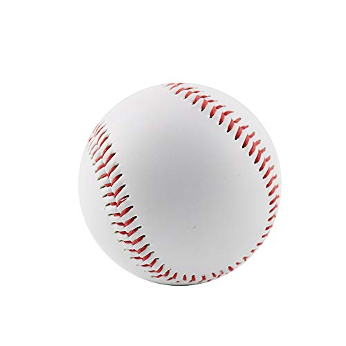 ZRK 3 STÜCKE Baseball Adult Youth Unmarked Baseball Rindsleder Doppelnaht Hand Nähen Baseball für Autogramme Traing Wettbewerb und Geschenk Autogramme (Innere Handschuh Softball)