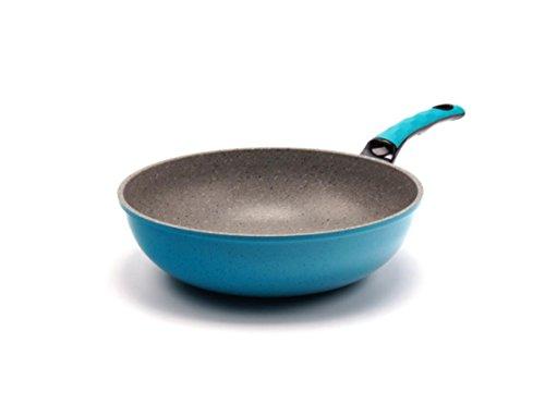 DONG Wok mififan Stein Wok rauchfreie nonstick Pfannen (Farbe : Blau)