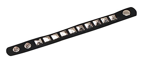 Low Cost Studded Fancy Dress Punk Bracelet Wristband