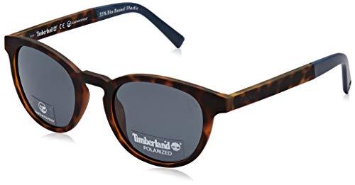 Timberland tb9128 occhiali da sole, dark havana/smoke polarized, 50 uomo