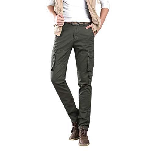 Morran Cargo Hose Männer Herren Hosen für Männer Freizeithosen Multi-Pocket Spring Overalls Casual Straight-fit Cargo Pant