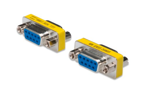 Seriell Rs-232 Gender Changer (DIGITUS D-Sub 9 Gender-Changer - Adapter - 9-Pin Kupplung - Buchse zu Buchse - RS-232 - RS-485 - TTL - Metallgehäuse)