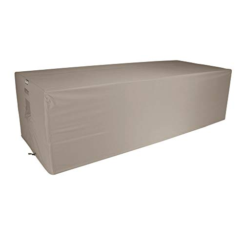 Raffles Covers NW-RLB250straight Hülle für Gartensofa 250 x 100 H: 75 cm Loungesofa Abdeckung, Schutzhülle für Gartensofa, Wetterschutz für Rattan Garten Lounge
