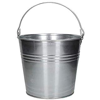 AGROHIT Zinkeimer Wassereimer Blecheimer Metalleimer Eimer Dekoeimer verzinkt 5-15l (5L)
