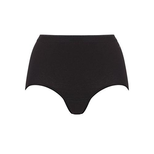 Ten Cate Damen Maxi-Slip Hüftslip BASIC 3-Pack - Baumwoll-Mix Black