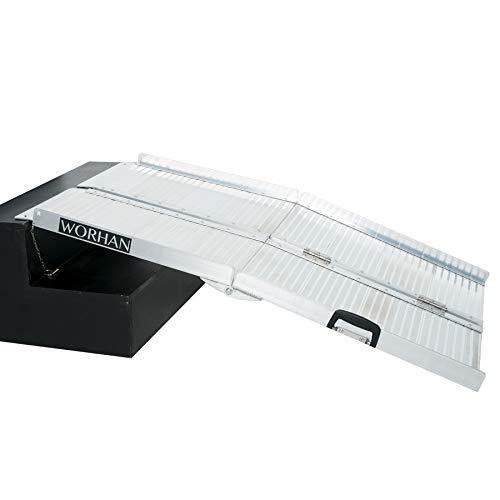 WORHAN RAMPA di CARICO A Valigia in Alluminio Max 272 kg per Sedia A ROTELLE Grande Selezione (122cm) R4