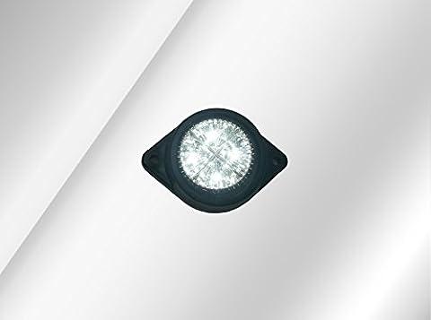 1 x 12v CLEAR WHITE LED FRONT SIDE MARKER LIGHT INDICATOR LAMP VAN CAMPER TRUCK