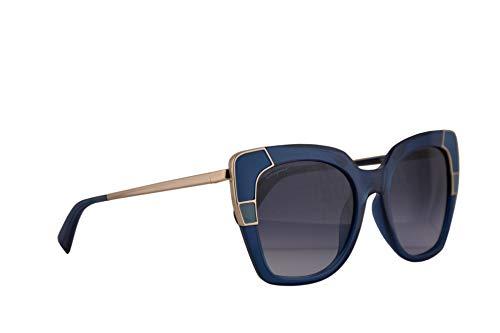 Salvatore ferragamo donne sf889s occhiali da sole w/blue lens 52mm 424 sf 889s crystal blue grande