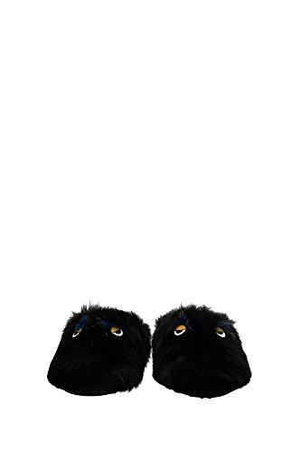 7P09958G1F05M3 Fendi Pantoufle Homme Fourrure Noir Noir