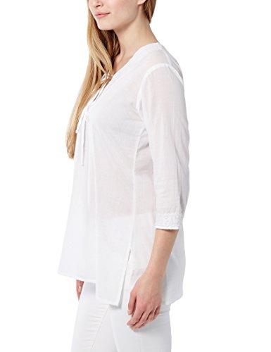 Berydale Camicetta Donna Manica Lunga con Scollo Stile Tunica Bianco (Weiß)