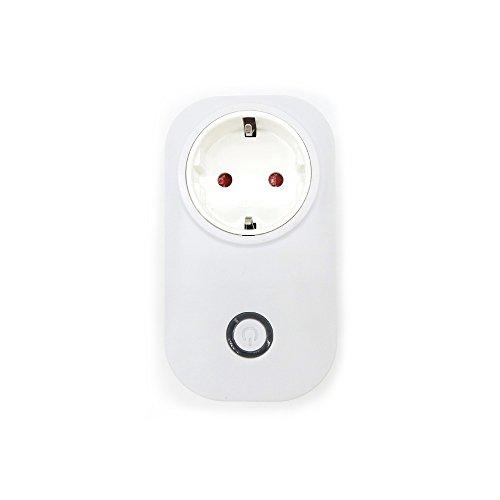 Preisvergleich Produktbild WLAN Steckdose mit Fernsteuerung inkl Zeitsteuerung Energiesparfunktion und USB Anschluss über Android/iOS-App Stütze Alexa