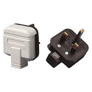 White permaplug 13 amp 230 V UK 3 Broches Rewireable Heavy Duty High Impact Plug Top