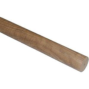 Rundstab / Rundholz Nussbaum 40mm (+-1mm) gedrechselt / verschiedene Längen wählbar, grob geschliffen
