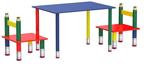 Unbekannt Hochwertige Kinder Tisch Gruppe Stühle Massiv Holz bunt lackiert Spiel Zimmer Mobiliar Harms 303990