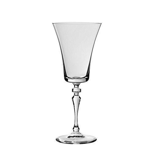 Côté Table 22775 Alex Verre à Vin avec Pied Cristallin Argent 22,5 cl 8,5 x 8,5 x 21 cm (lot de 6)