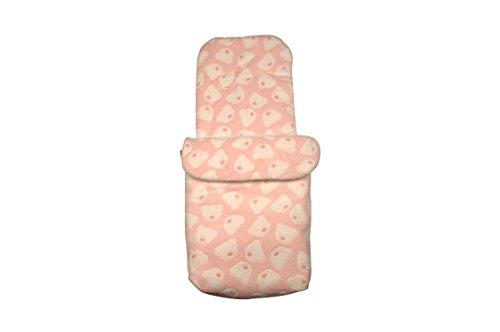 Clair de Lune Teddy Fleece Pushchair Footmuff (Pink)