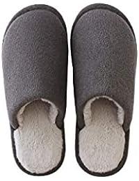 FRTEJ Pantofole di Cotone casa pelosa Interna di Spessore-Suola Scarpe Uomo  e Donna Coppie c45cd95bd67