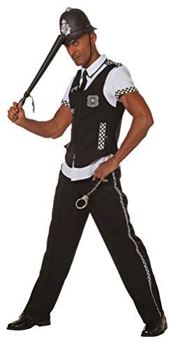 Karneval-Klamotten Bobby Kostüm Herren Polizist Kostüm Herren England UK Herren-Kostüm Größe ()